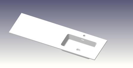 Van Marcke - Pierro - wastafelblad met 1 geïntegreerde waskom rechts