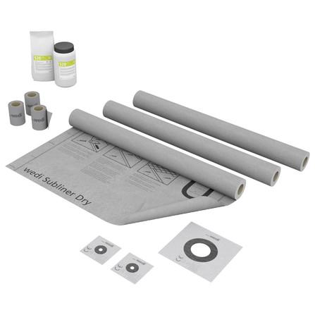 Wedi - kit d'étanchéité pour mur