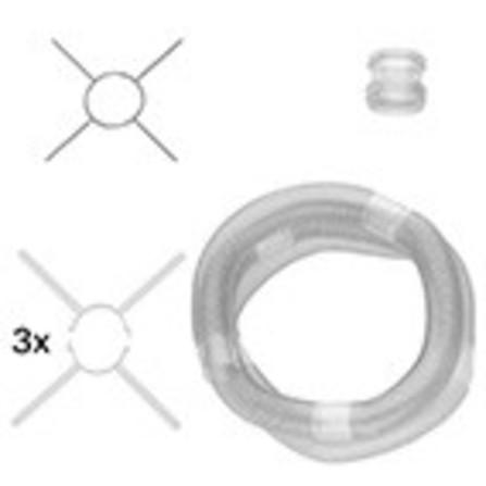 Bosch - basispakket flexibele buis - 15 meter - D80