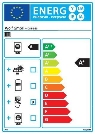 Wolf - CGB-2-55 - chaudière murale gaz à condensation - 55 kW