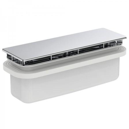 Ideal Standard - Ultra Flat New - écoulement avec couverture en chrome