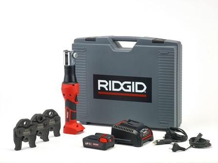 Ridgid - RP 219 outil de sertissage - 230 V chargeur - 18 V Li-Ion batterie - inclusive machoires à sertir - mallette de transport