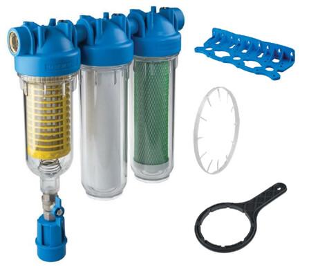 Van Marcke - Purifo - Trio sediment filter met terugspoeling voor regenwater