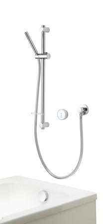 Aqualisa - Quartz Blue - modèle encastré - avec douche à main et rempl./vidage baignoire