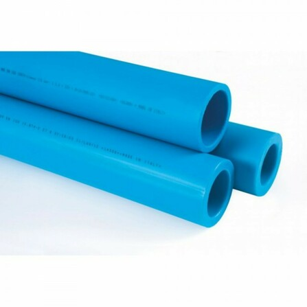Niron - tube multicouche - fibre optique - bleu avec trait vert - 4m