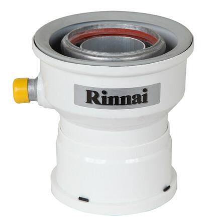 Rinnai - adaptateur D60/100 - D80/125 - pour chauffe-bain Infinity 17i - avec évacuation des condensats