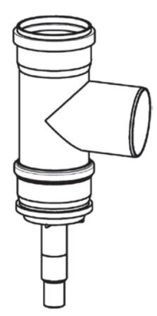 Riello - Tau Unit - fumisterie - D100 - pièce en T