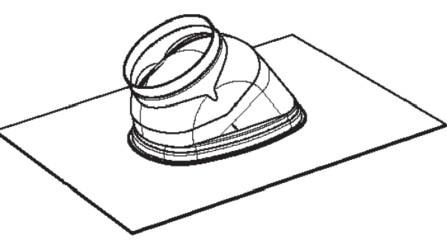 Riello Tau Unit - dakplaat - D 160 - helling: 25/45°