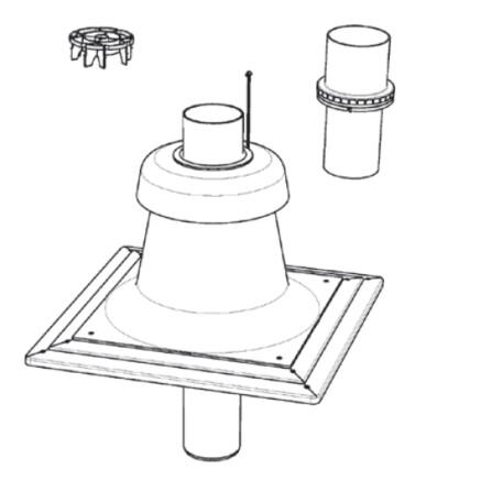 Riello - Tau Unit - fumisterie - D80 - chapeau cheminée - flex/rigide