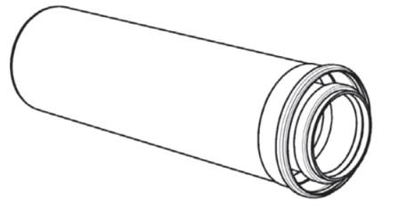 Riello - Tau Unit - fumisterie - tuyau d'évacuation des fumées - D 80/125