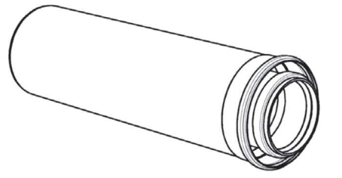 Riello Tau Unit - rookgasafvoerbuis - D 110/160 - lengte: 1000 mm