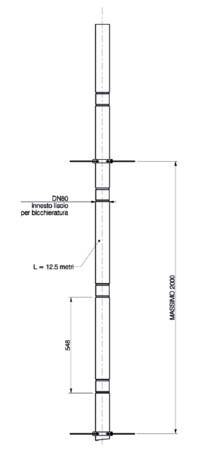 Riello Tau Unit - flexibel - D 80 - lengte: 12,5m - PP