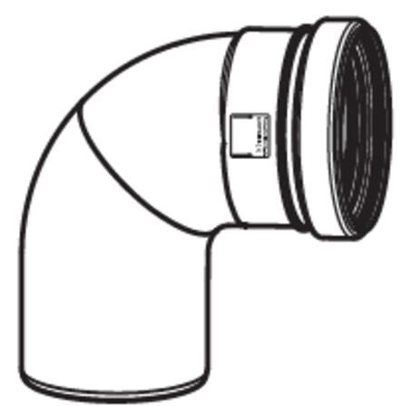 Riello - Tau Unit - fumisterie - D80 - coude
