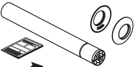 Riello - Tau Unit - rookafvoer - D80 - eindstuk