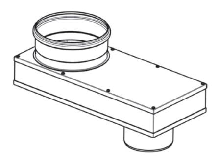 Riello - Tau Unit - fumisterie - Adapteur - 2xD110-D110/160