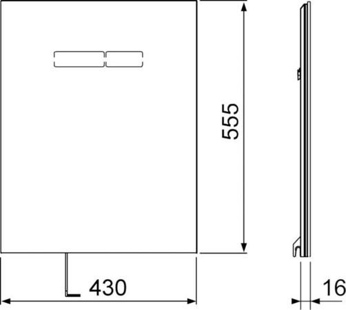 TECELUX BED.SEN-TOUCH GLAS WT