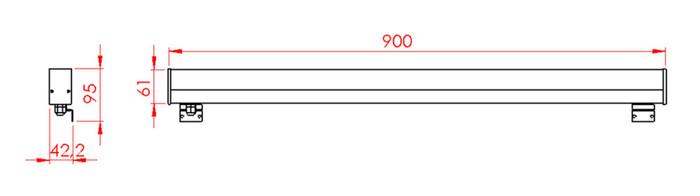 VMO TUBO LED 90 ALU 14,5W WARM