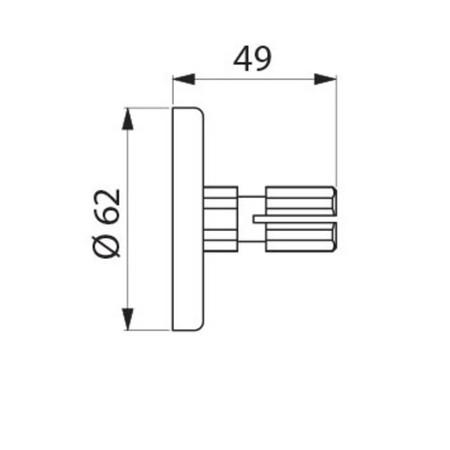 DEL 2392 PL.RAC.P/TUBE D20 2PC