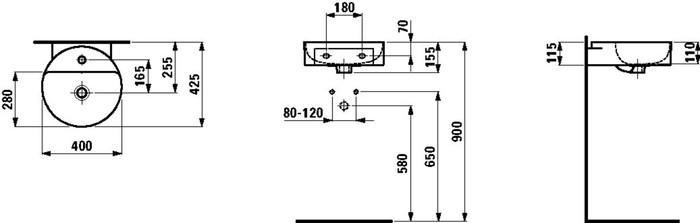 LAU 811281 VAL SMALL WASHB.D40