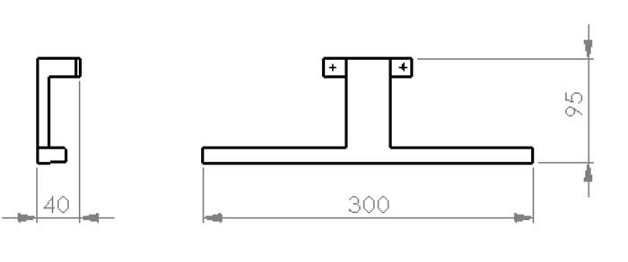 VMC LUX VETRO LED 300 IP44 NO