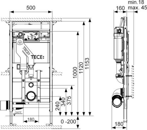 TECELUX 400 TOIL.MODULE 112CM