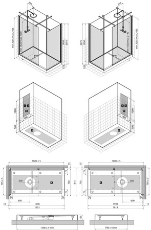 VMC VIDR.WALK-INN BL/BL 160X80