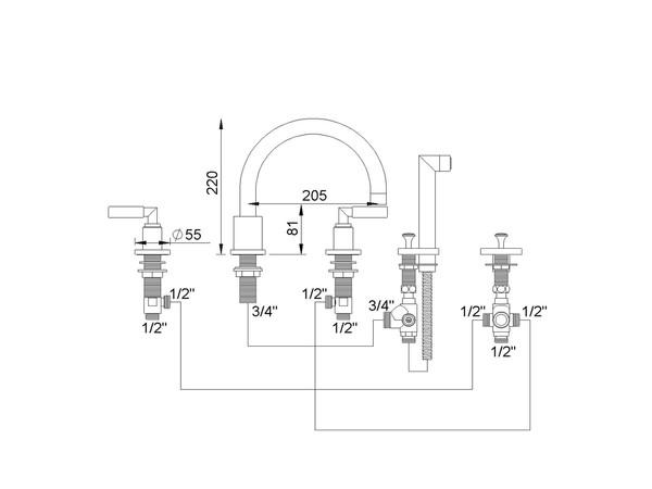 RVB 40911170 CLIFF B/D 4-LOCH