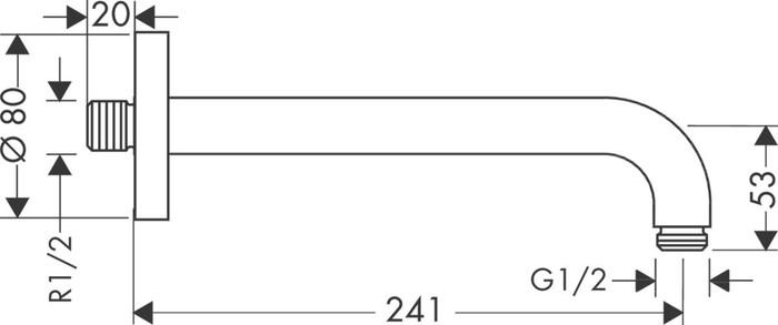 HGR 27409 BRAS DOUCHE 24,1CM