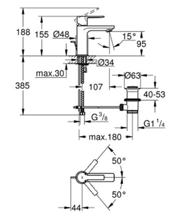 GRH 32109001 LIN.WT XS M/LEER.