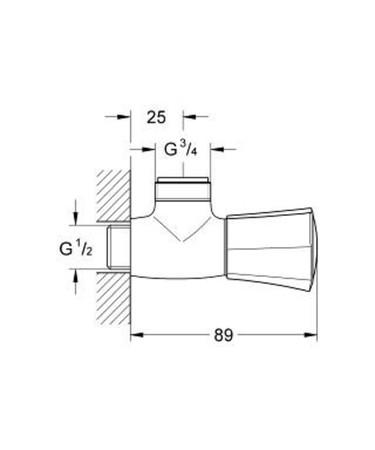 GRH 26010 COSTA L DSCH ARM.1/2