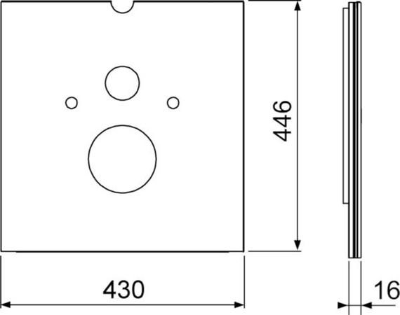 TECELUX 9650103 PLAQ.FIX.VER.B