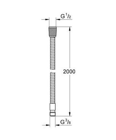 GRH 28158 FLEXIBLE METAL 2M