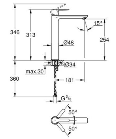 GRH 23405001 LIN.WT XL O/LEER