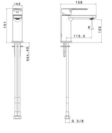 VMO NERO WT 1-GR Z/LED.MAT ZW