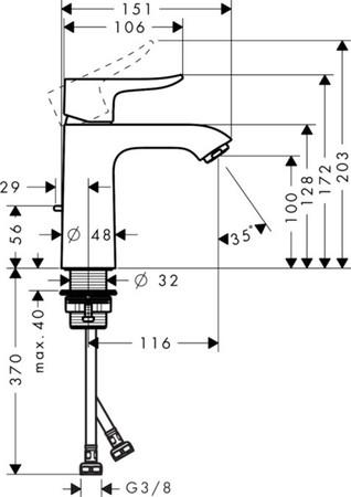 HGR 31121 METRIS WT M/LEER CH