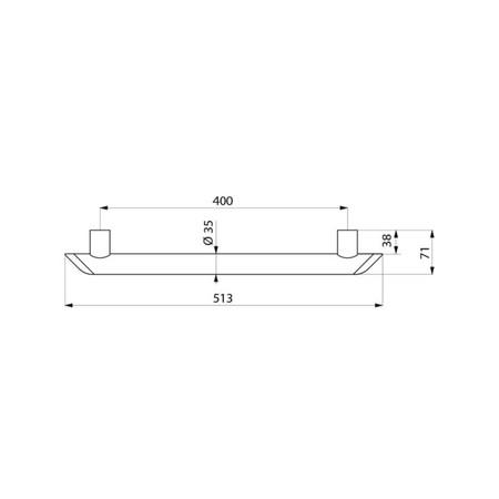 DEL BE-LINE BARRE L40 D35 ANT