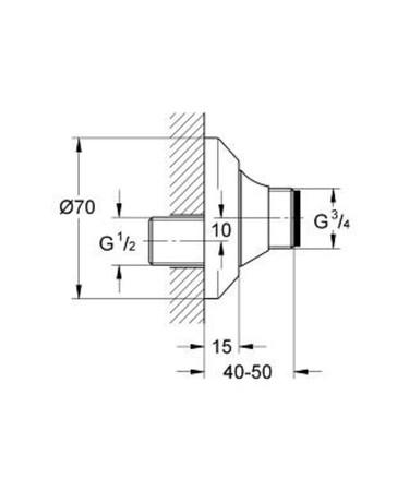 GRH 12400 S-ANSCH.ABSPERR.3/4A