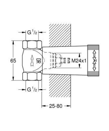 GRH 29800 UP-VENTIL UNTERT.1/2