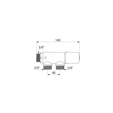 DEL TS 733020 PREMIX THERM.3/4