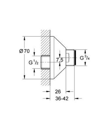 GRH 12001 S-ANSCHLUSS 1/2X3/4