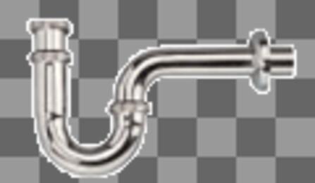 Van Marcke Pro - buishevel - chroom - met muurbuis - zonder plug