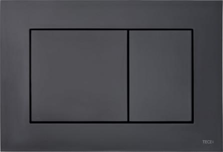 TeceNow - bedieningsplaat - duospoeltechniek - zwart mat