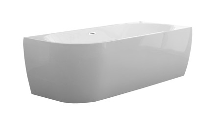 D-Shape Design - halfvrijstaand bad - rechts - 1800x800 - compleet