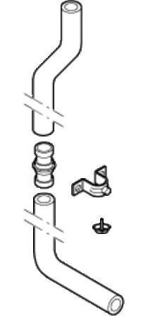 Geberit - tuyau de chasse pour installation à mi-hauteur