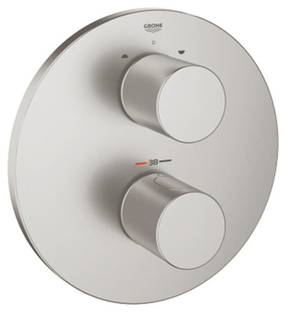 Grohe - Grohtherm - afwerkingsset bad/douche - rond model