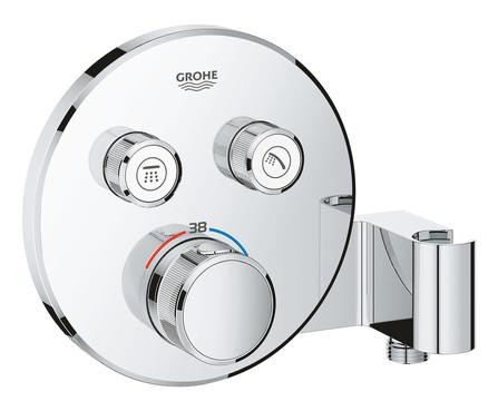 Grohe - Grohtherm - afwerkingsset - rond - 2 aansluitingen - geïntegreerde douchehouder