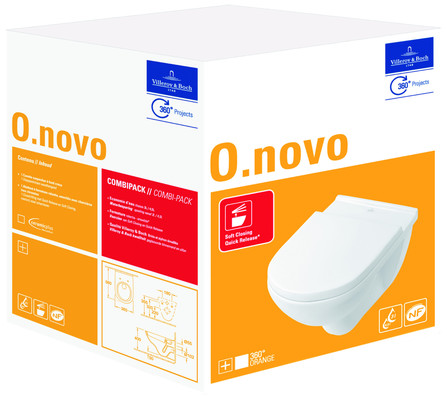 Villeroy & Boch - O.novo - PACK - cuvette suspendue