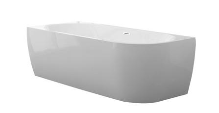 D-Shape Design - halfvrijstaand bad - links - 1800x800 - compleet