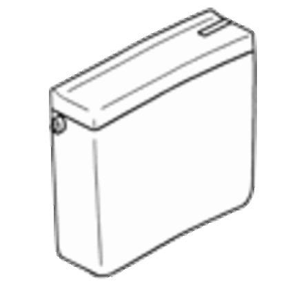 Geberit - Duplex - jachtbak - spoel-stop spoeling - zonder bevestigingsgaten