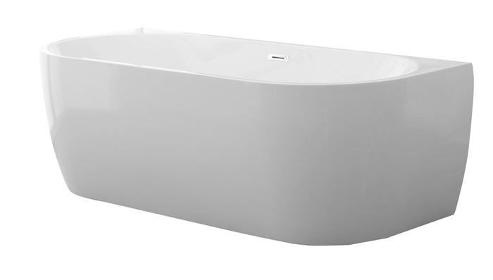 D-Shape Design - halfvrijstaand bad - centraal - 1800x800 - compleet